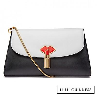 LULU GUINNESS ELIZABETH 手拿/側背包 (黑白)