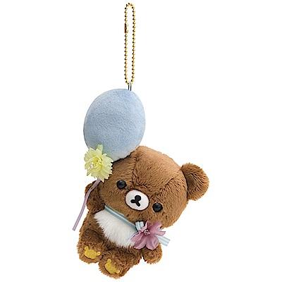 懶妹蜂蜜小熊的粉彩花園系列毛絨公仔吊飾。蜂蜜小熊San-X