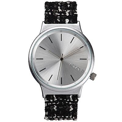KOMONO Wizard Tweed 腕錶-性格斜紋軟呢/37mm