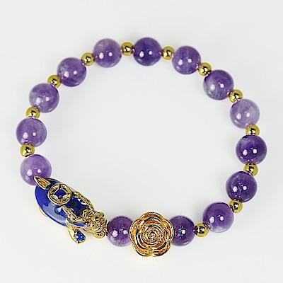 紫鋰晶招貴人變色貔貅手鍊 林真邑