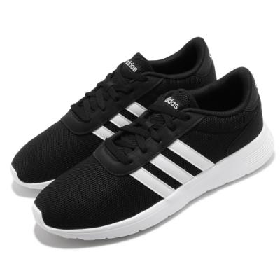 adidas 慢跑鞋 Lite Racer 運動休閒 男鞋 愛迪達 三線 基本款 網布 穿搭 黑 白 B28141