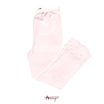 Annys甜美清透吊帶條紋層次洋裝內搭褲*0331粉
