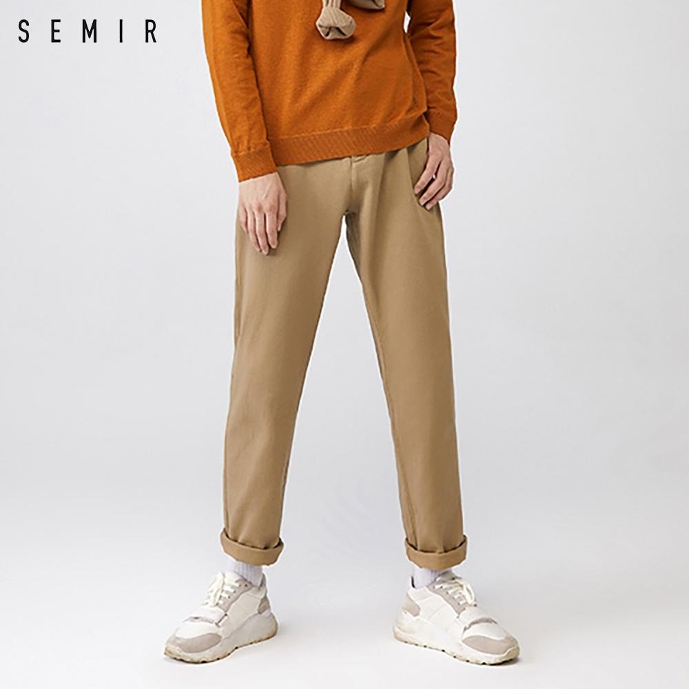 SEMIR森馬-熱賣推薦款直筒工裝休閒長褲-附皮帶-男