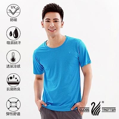 【遊遍天下】台灣製中性款輕量吸濕排汗機能圓領衫S107湛藍