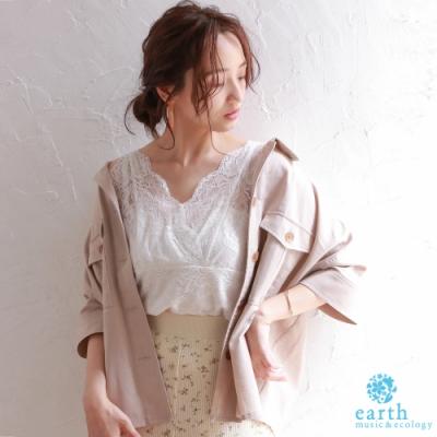 earth music 工作風口袋剪裁襯衫上衣