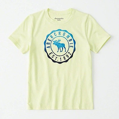 AF a&f Abercrombie & Fitch 小孩 T恤 綠色 0832