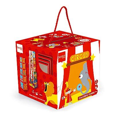 比利時 scratch - 拼圖方塊盒(馬戲團)