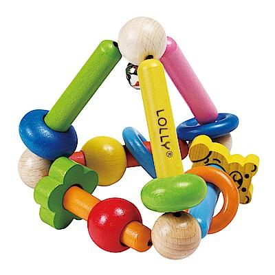 LOLLY木製玩具-耀眼錐形手搖鈴