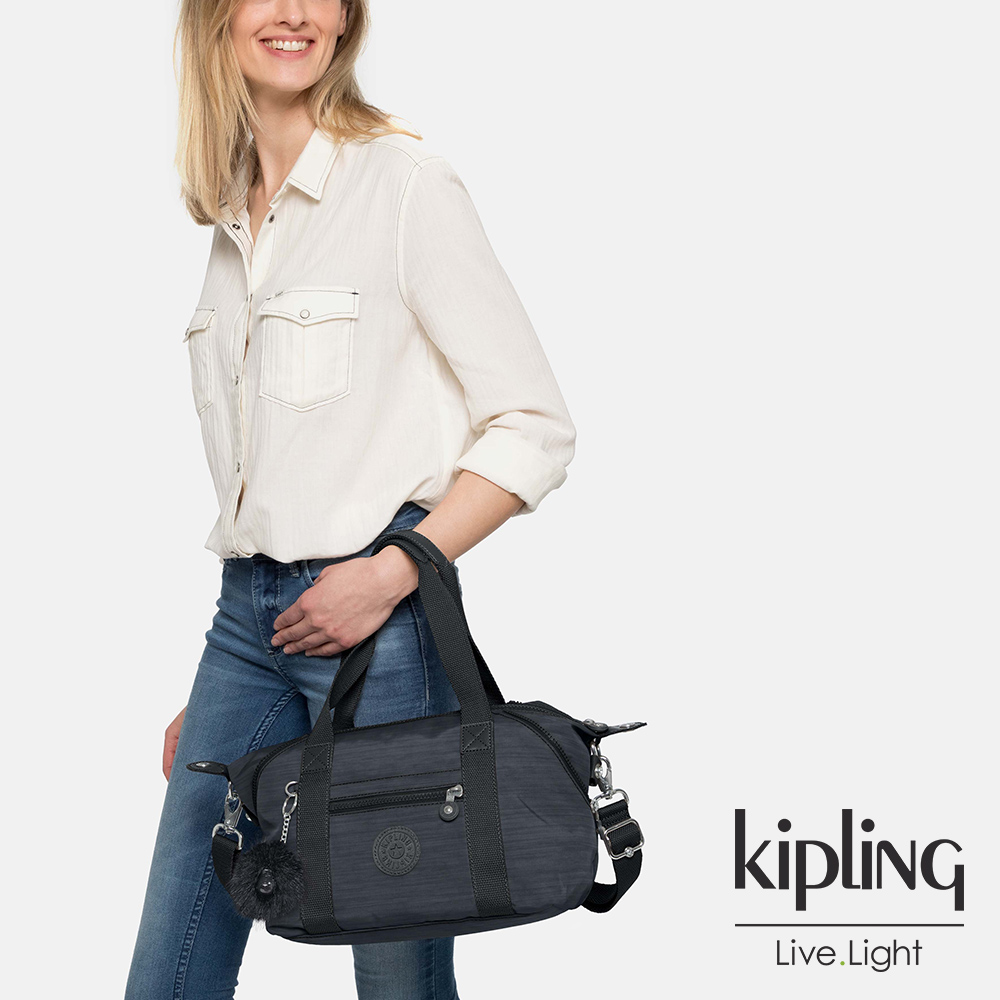 Kipling 深藍素面手提側背包-ART MINI-ESSENTIAL系列
