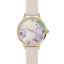 Olivia Burton 英倫復古手錶 閃亮格紋花園
