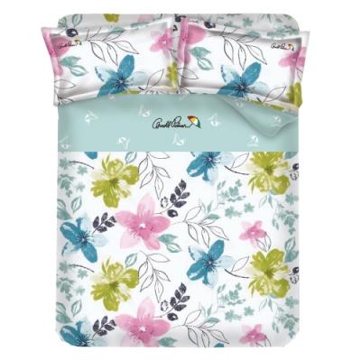 Arnold Palmer雨傘牌 果漾戀人-台製40紗精梳棉床包枕套雙人加大三件組