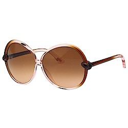 TOM FORD 圓框 太陽眼鏡 (透明粉色+咖啡色)TF164