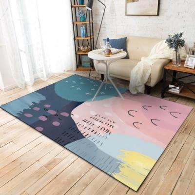 BUNNY LIFE 墨藍飛燕-北歐風舒柔水晶絨地毯