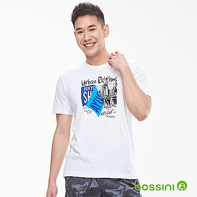 bossini男裝-印花短袖T恤03白