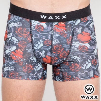 WAXX 美式復古塗鴉-四面超彈性快乾四角男內褲