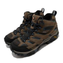 Merrell 戶外鞋 Moab 2 Mid GTX 男鞋 登山 越野 耐磨 黃金大底 防潑水 棕 黑 ML034803