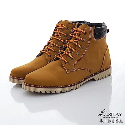 LUXPLAY  男款 經典羊巴戈輕手感黃靴 WK234棕