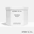 美國 AYDRY & CO. 復古玫瑰 天然手工香氛 極簡純白錫罐 212g