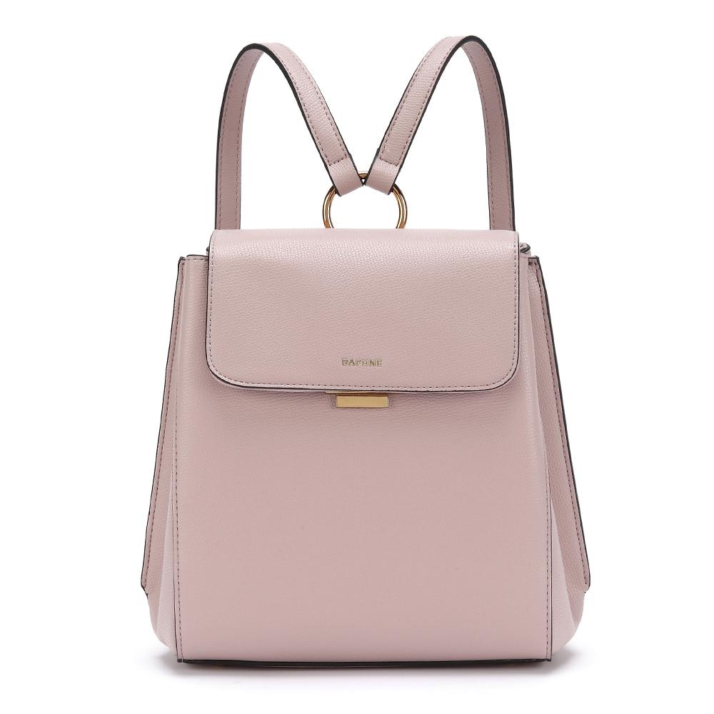 達芙妮DAPHNE-簡約率性原色休閒後背包-淺粉紅