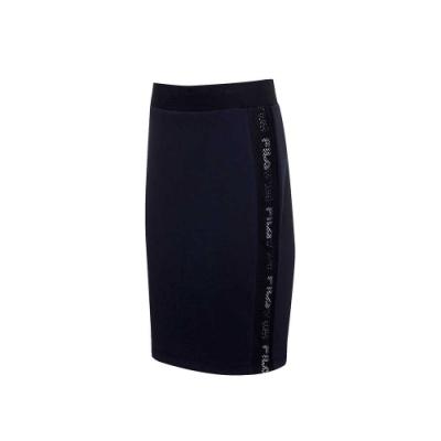 FILA #尬頑街潮 針織窄裙-黑色 5SKU-5439-BK