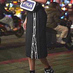 FILA 女抗UV吸濕排汗短裙-白色 5SKU-5009-W