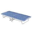 文創集 瑪芬藍2.8尺亞麻布鐵製單人折合床台(可折合收納)-152x9x114cm免組