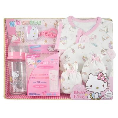 【三麗鷗SANRIO】KITTY 凱蒂貓歡樂童伴哺育禮盒組