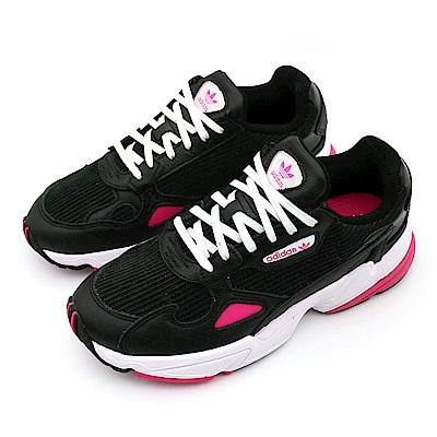 ADIDAS FALCON 女 慢跑鞋 黑粉-EE5123