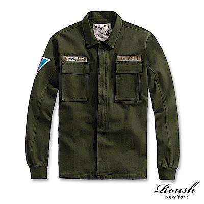 Roush 重磅洗水軍裝式貼布外套(2色)