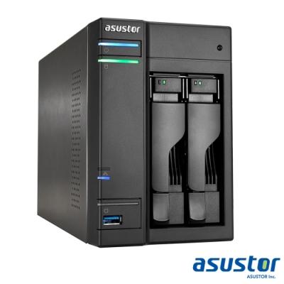 【促銷組合】ASUSTOR華芸 AS6302T 2Bay 網路儲存伺服器+WD 2TB*2