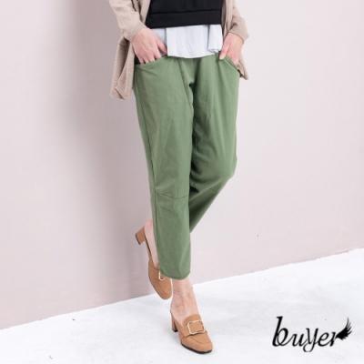 【白鵝buyer】休閒韓版棉料口袋老爺褲-草綠