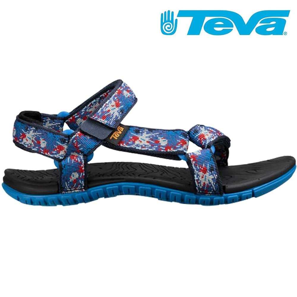 【TEVA】Hurricane 3 大童 運動水陸涼鞋 潑漆藍(TV1019535YSNVY)