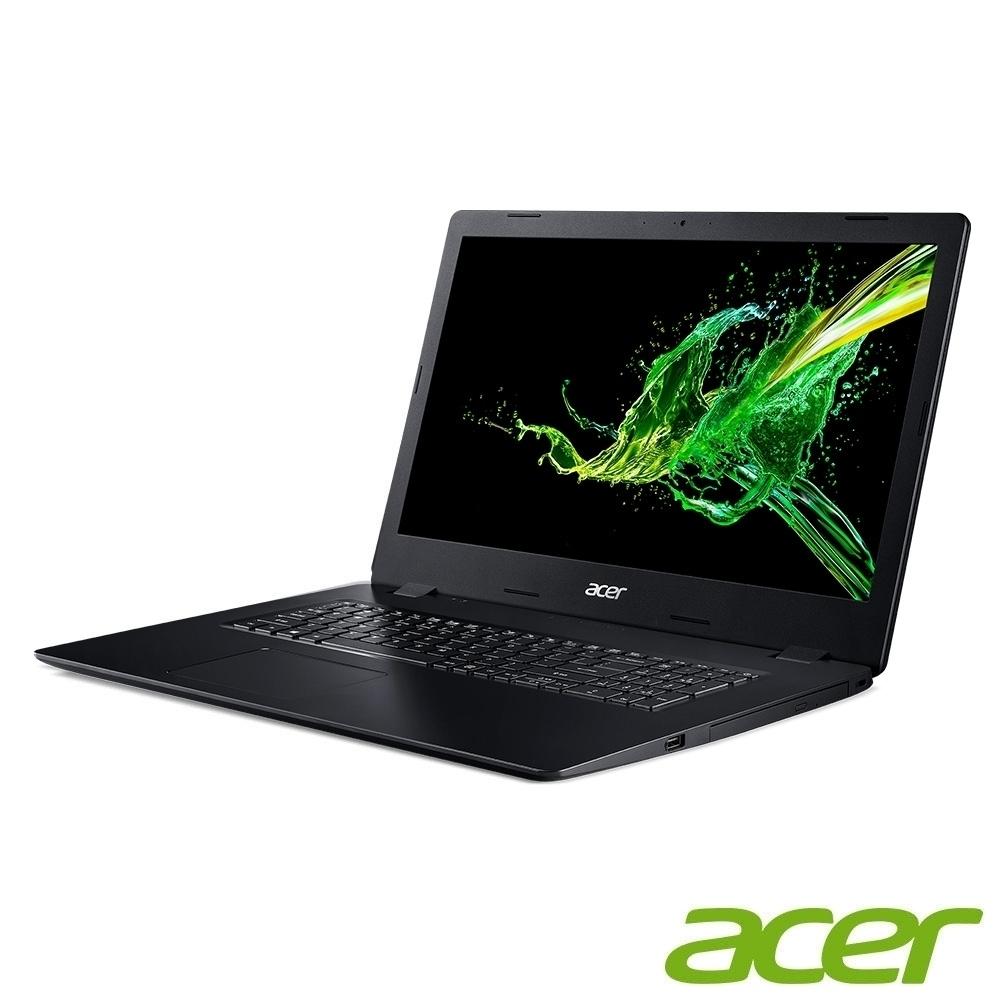 Acer A317-32-C3Y8 17吋文書筆電(N4120/4G/256G SSD+1TB/Aspire 3/黑)