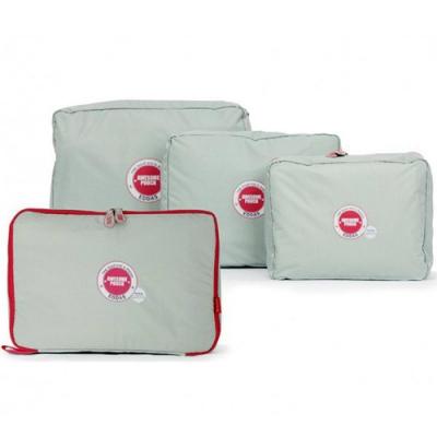 iSFun 旅行專用 尼龍網布防水收納四入袋 灰