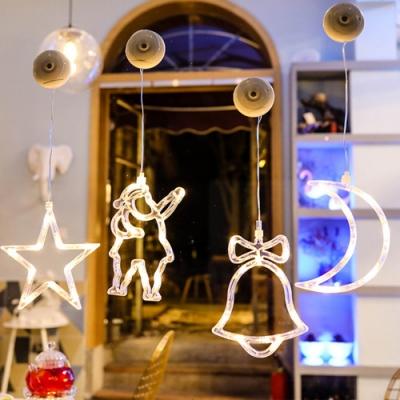 iSFun 白夜星光 溫馨聖誕風垂墜玻璃掛飾燈 2入隨機款