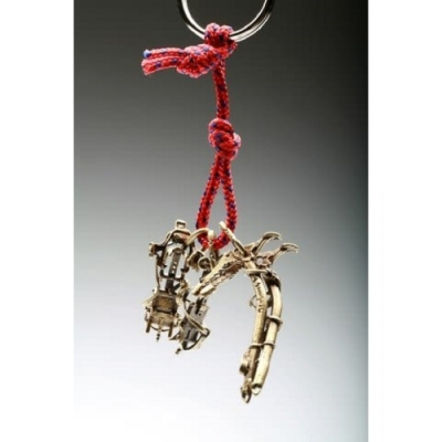SAC #29 青銅鑰匙圈掛飾 冰爪+技術攀登冰斧
