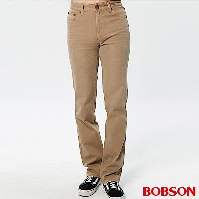 BOBSON 男款熱感IN直筒牛仔褲(卡其72)