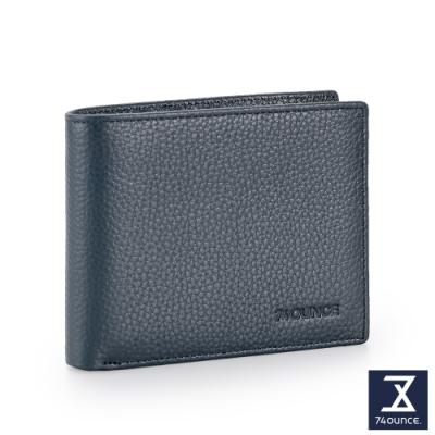 74盎司 Lithe 真皮橫式短夾(零錢袋)[N-603-Lit-M]藍