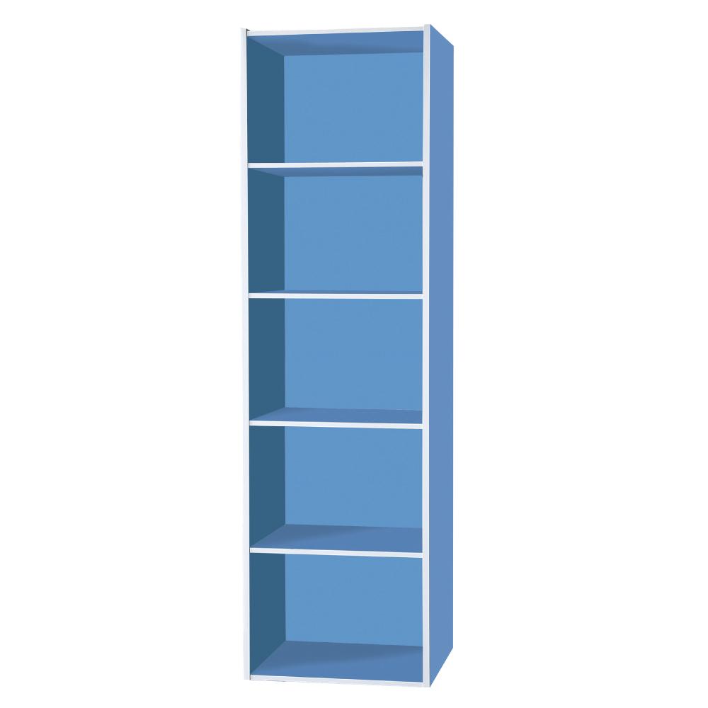 文創集 蘿倫環保1.4尺塑鋼開放式五格書櫃(五色)-43x40x179.5cm-免組