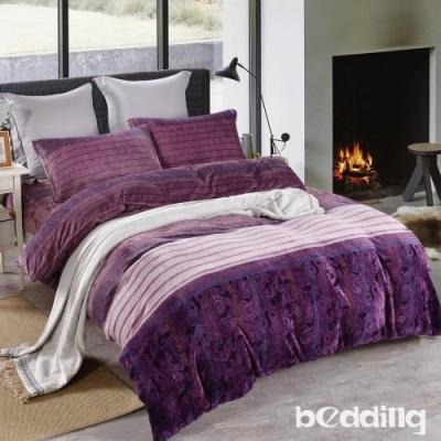 BEDDING-頂級法蘭絨-單人床包被套三件組-流光飛舞