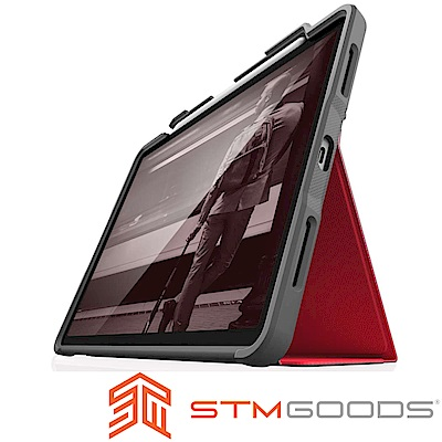 澳洲 STM Dux Plus iPad Pro 12.9吋(第三代)軍規防摔平板殼-紅