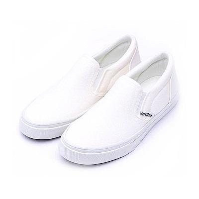 艾樂跑Arriba女款 經典小白鞋 便鞋 懶人鞋-白 (AB-8054)