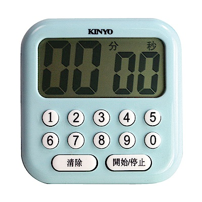 KINYO 電子式0-9多按鍵大螢幕正倒數計時器