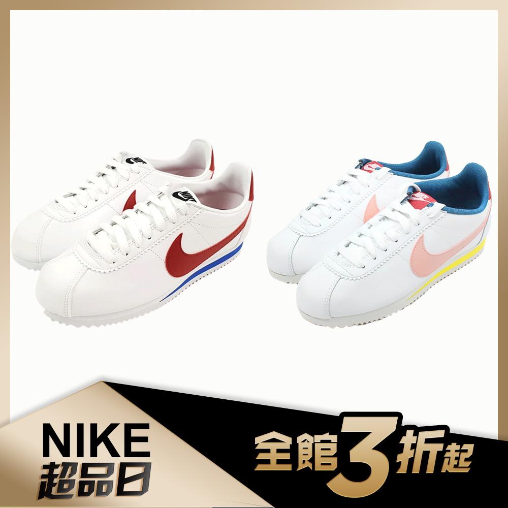 【品牌週限定】Nike 經典復古鞋 CLASSIC CORTEZ LEATHER 女鞋(兩色任選)