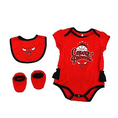 NBA 新生兒包屁衣組合 公牛隊 12-24M