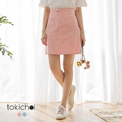 東京著衣-活力少女雙口袋A字短裙-S.M.L(共兩色)