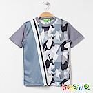 bossini男童-速乾短袖圓領上衣10淺灰