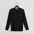 Hang Ten - 男裝 - ThermoContro系列-柔軟保暖V領上衣-黑