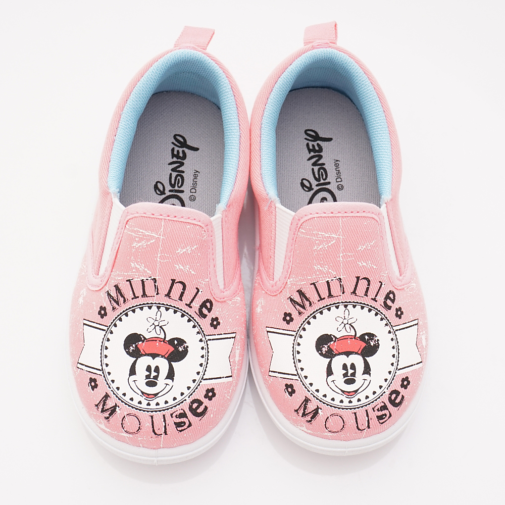 迪士尼童鞋 米奇休閒帆布款 ON18630粉(中小童段)