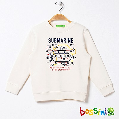 bossini男童-圖案圓領厚棉T恤02乳白